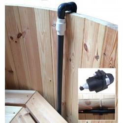 Luchtbubbelset met 12 jets voor houten Hottub